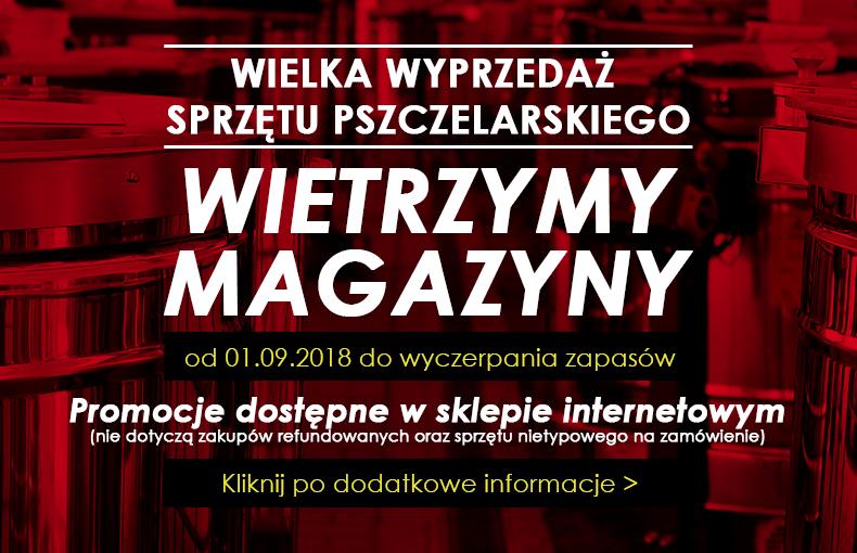 Wyprzedaż w sklepie pszczelarskim pszczelnictwo.com.pl